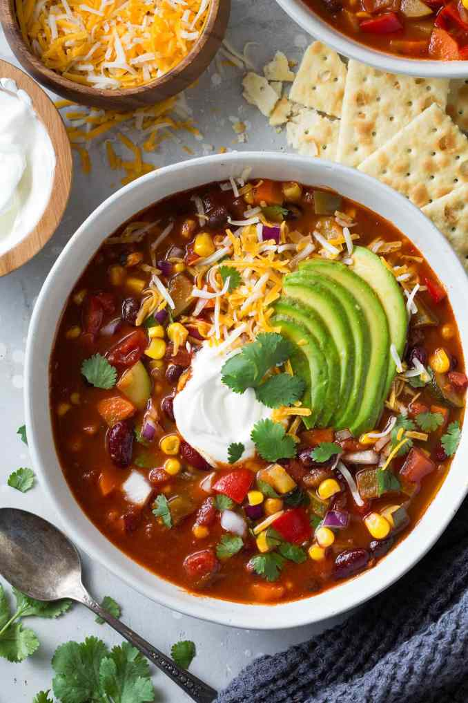 Vegetarian Chili (Healthy and Packed with Flavor