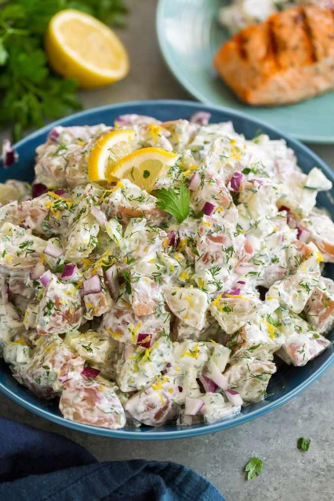 Greek Potato Salad - Cooking Classy