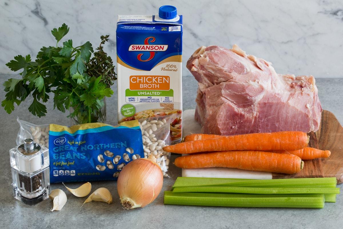 Soup Ham Without Bone Bean