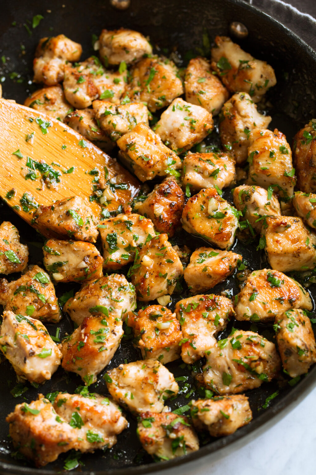 Keto Low-carb Garlic Butter Chicken Bites