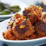 Albondigas Opskrift albondigas - spanske kødboller i tomatsauce | cookingclub