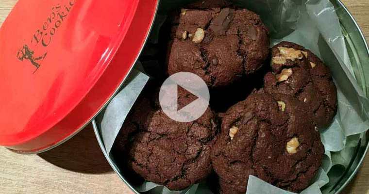 Ben's cookies med valnødder og chokolade
