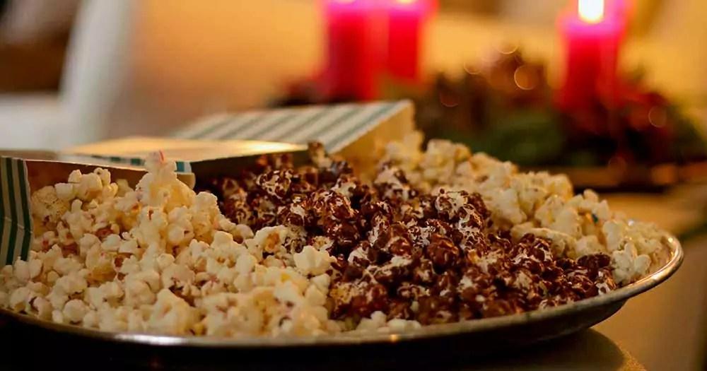 Popcorn med smag jul opskrift