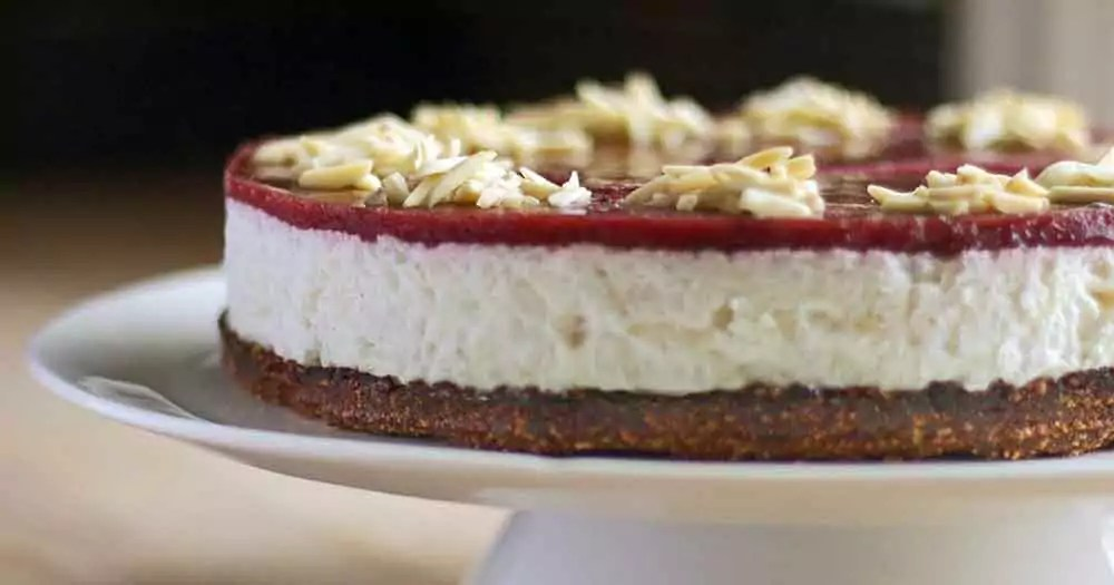glutenfri risalamande cheesecake hjemmelavet dessert