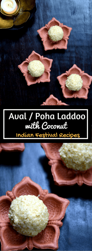 Aval Laddoo Poha Laddoo with Coconut Diwali Recipe