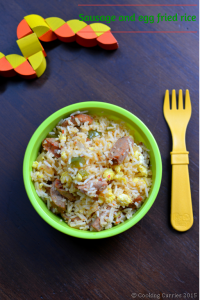 Little People Food – Sausage and Egg Fried Rice