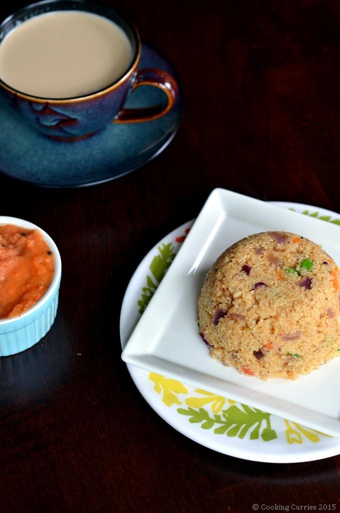 Vegetable Rawa Upma - Semolina Breakfast Porridge - South Indian Breakfast Recipe - Cooking Curries (2)