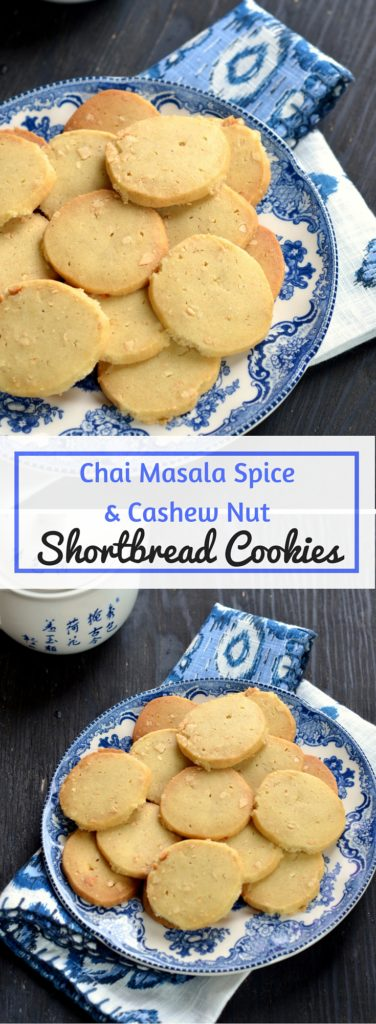 Chai Masala and Cashew Nut Shortbread Cookies -Cooking Curries
