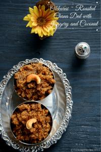 Okkarai ~ Roasted Chana Dal with Jaggery and Coconut |A Diwali Recipe