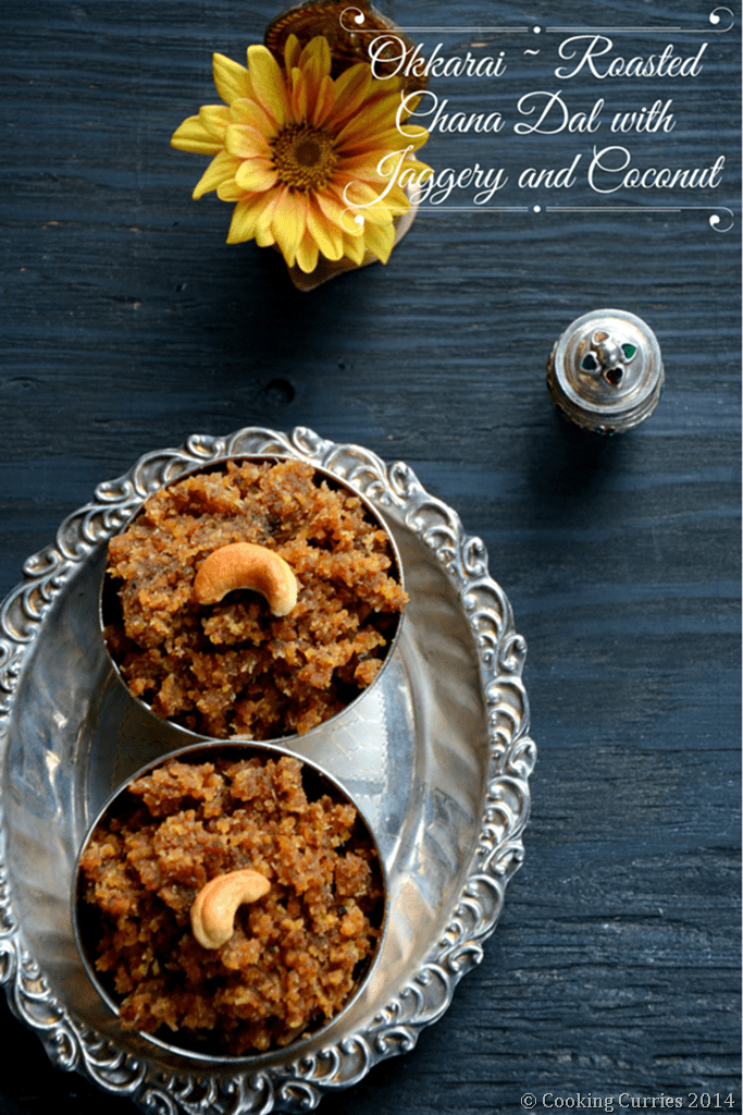 Okkarai - Roasted Chana Dal with Jaggery and Coconut - Diwali Recipe - Mirch Masala