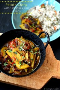 Potato Curry with Tomatoes and Onions