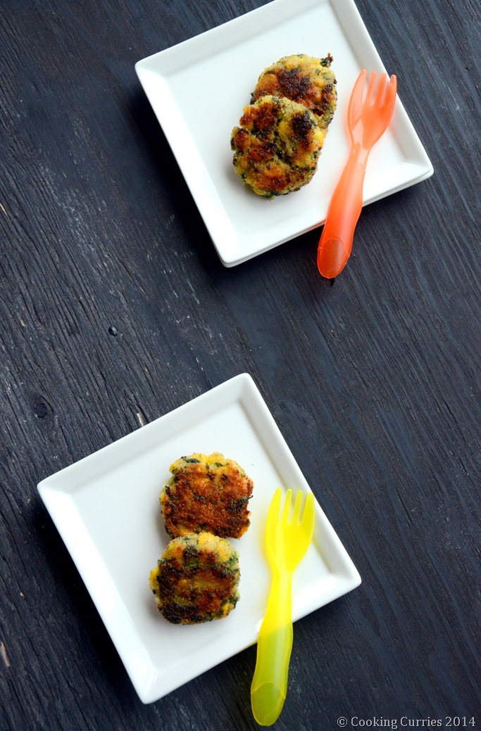 Spinach, Rice and Corn Patties - Mirch Masala - Toddler Food Recipe (3)