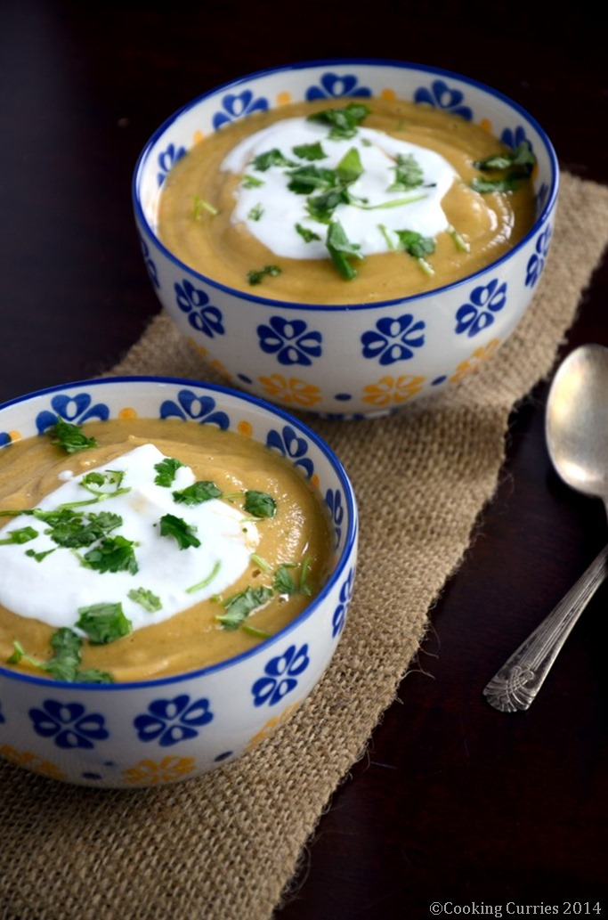 Slow Cooked Butternut Squash and Chickpea Soup with Coconut Milk - Mirch Masala (2)