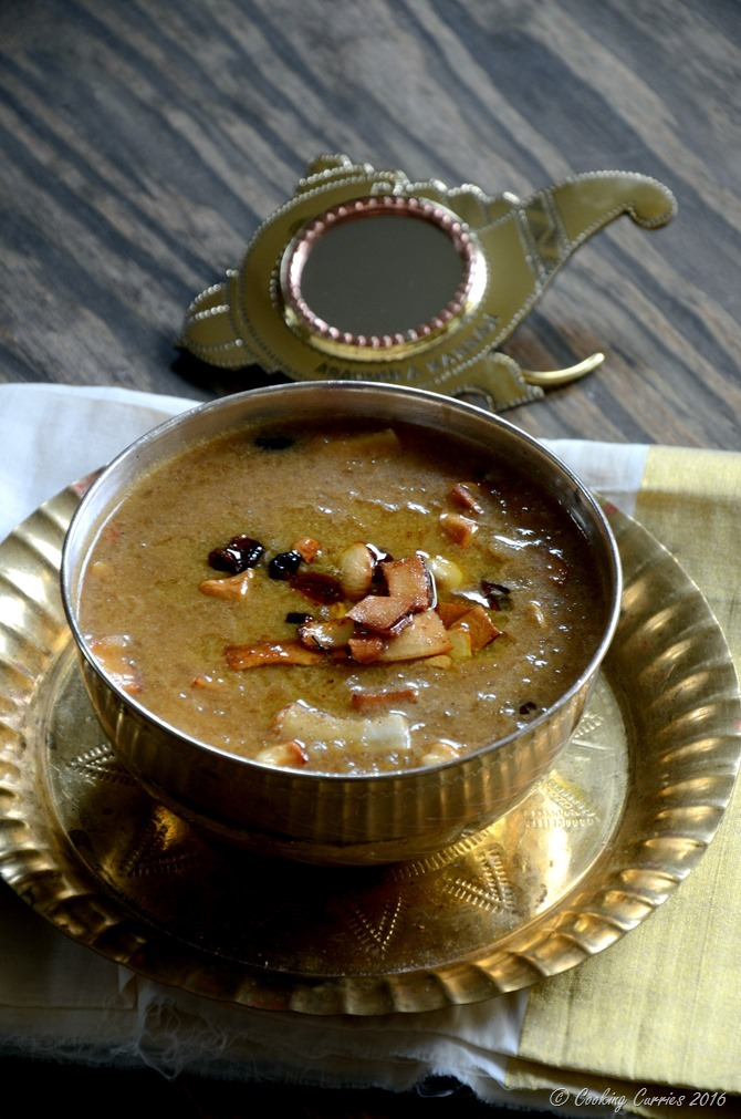 Aval Payasam ~ Beaten Brown Rice (Poha) Pudding with Jaggery and Coconut Milk - Cooking Curries - Kerala Sadya Recipes Vishu Onam (4)