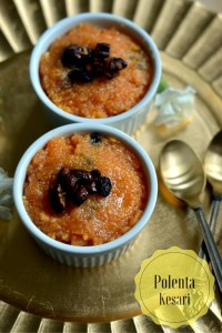 Polenta Kesari ~ Indian Style Polenta Sweet Pudding   Gluten Free