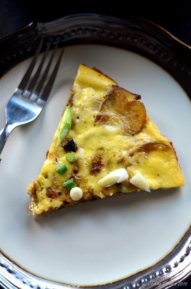 Potato Leek Frittata - A Brunch Recipe - Cooking Curries