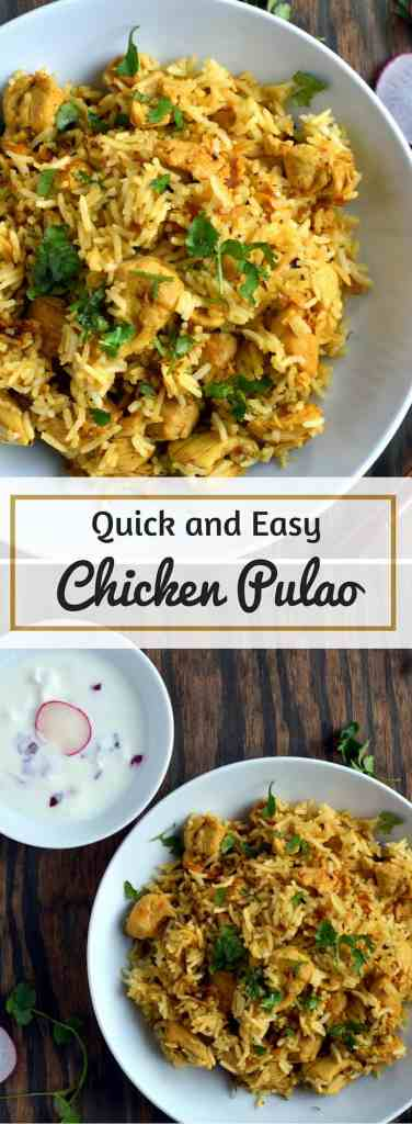 Quick and Easy Chicken Pualo , Chicken Pulav - Gluten Free Indian - Cooking Curries