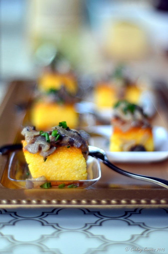 Truffle Polenta Crostini with Wild Mushroom Saute - Appetizer for Entertaining www.cookingcurries.com (2)