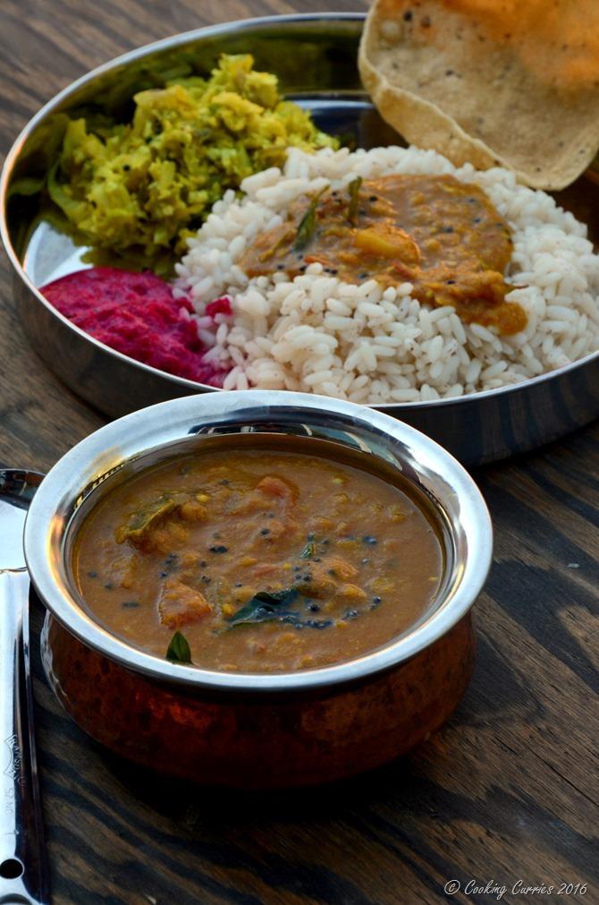 Varuthu Aracha Sambar - Kerala Sadya Recipes Onam Vishu (4)