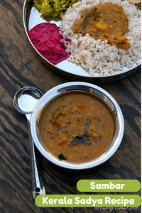 Varuthu Aracha Sambar Recipe