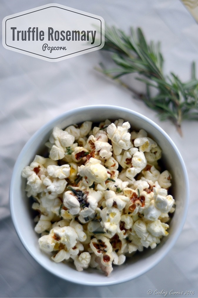 Truffle Rosemary Popcorn - Gluten Free, Vegan - Kid Friendly Snack - www.cookingcurries.com (3)