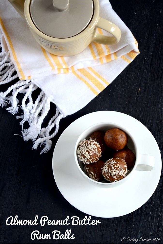 Almond Peanut Butter Rum Balls - no cook no bake recipe - www.cookingcurries.com (2)