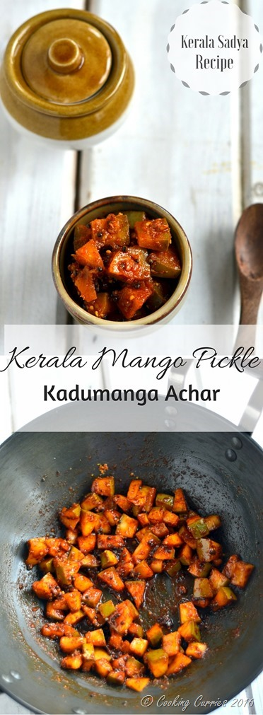Instant Kerala Mango Pickle - Kadumanga Achar - Mangai Curry - A Kerala Sadya Recipe - www.cookingcurries.com (2)
