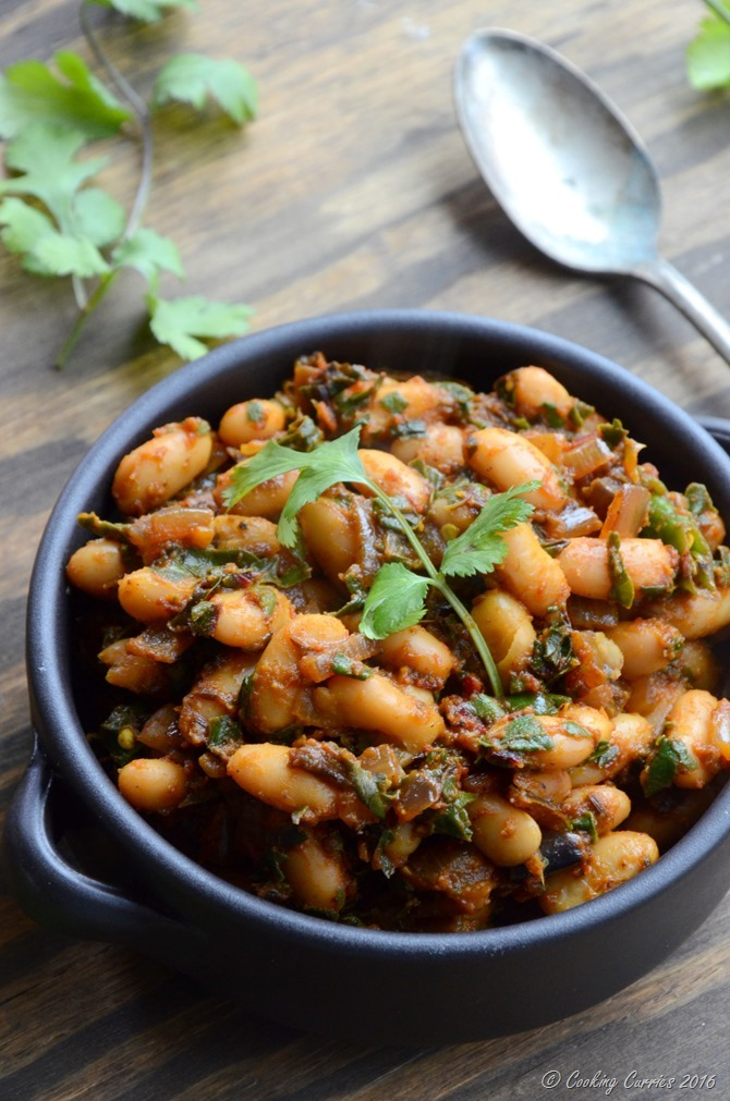 Red Chard and Cannellini Bean Saute - Vegan, Gluten Free - www.cookingcurries.com (2)