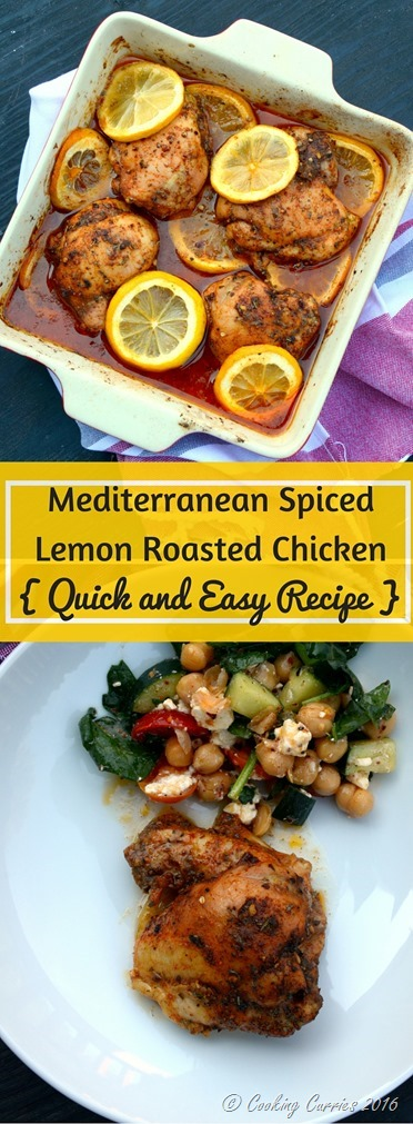 Mediterranean Spiced Lemon Roasted Chicken - Quick and Easy One Pot Recipe - www.cookingcurries.com (3)