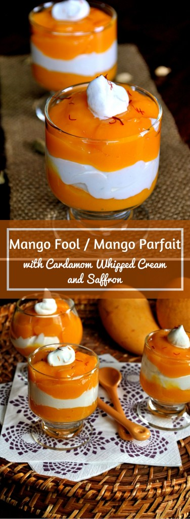 Mango Fool - Mango Parfait - with Cardamom Whipped Cream and Saffron. www.cookingcurries.com (2)