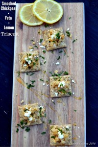 Smashed Chickpeas, Feta and Lemon TRISCUIT