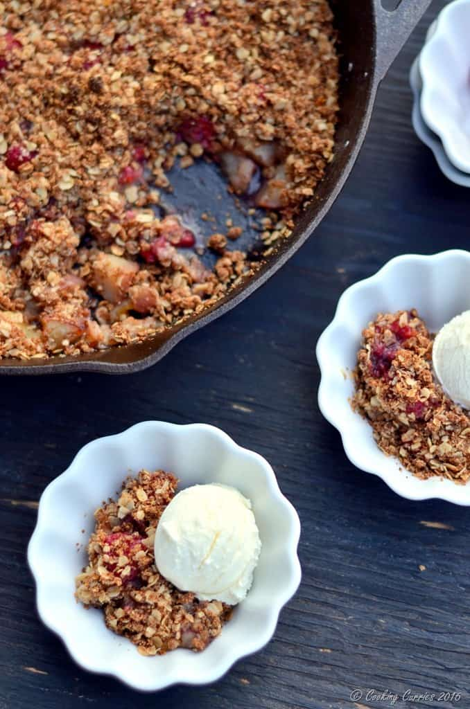 Brown Butter Nectarine Crisp with Raspberries - FoodieMamas - www.cookingcurries.com (2)