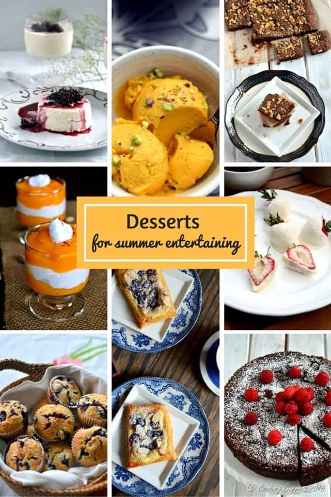 Desserts for Summer Entertaining - Look for the Ultimate Summer Entertaining Guide on www.cookingcurries.com
