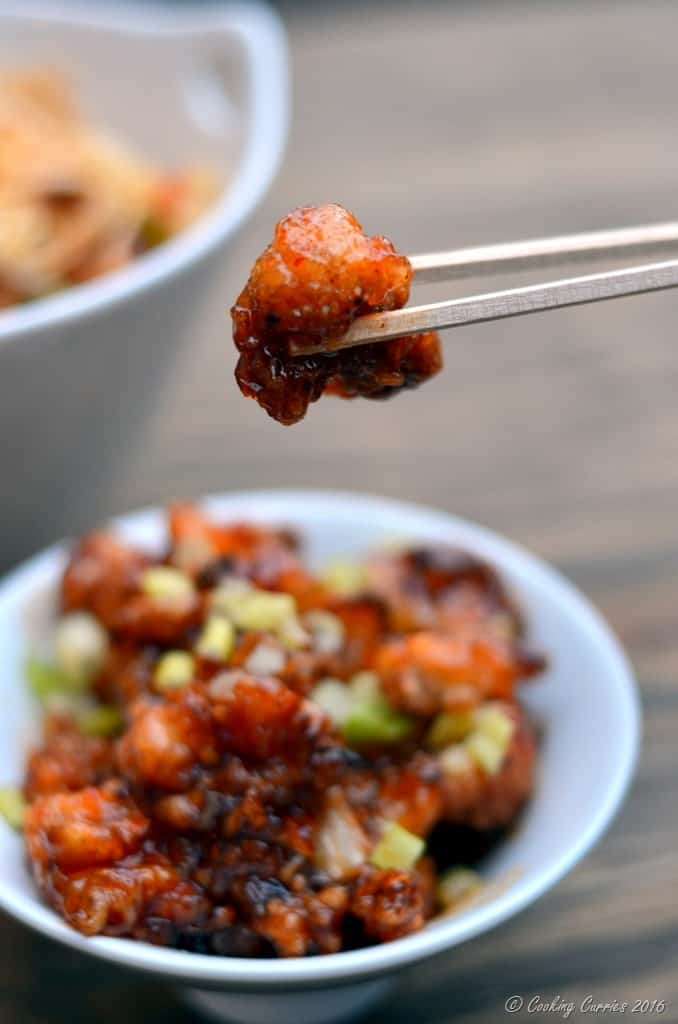 General Tso's Cauliflower - Crispy Cauliflower in a Sweet Chili Sauce - Vegan , Gluten Free - www.cookingcurries.com (3)