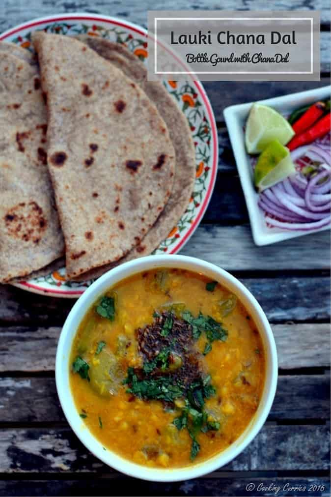 Lauki Chana Dal - Bottle Gourd Chana Dal - Vegan, Vegetarian, Gluten Free - www.cookingcurries.com