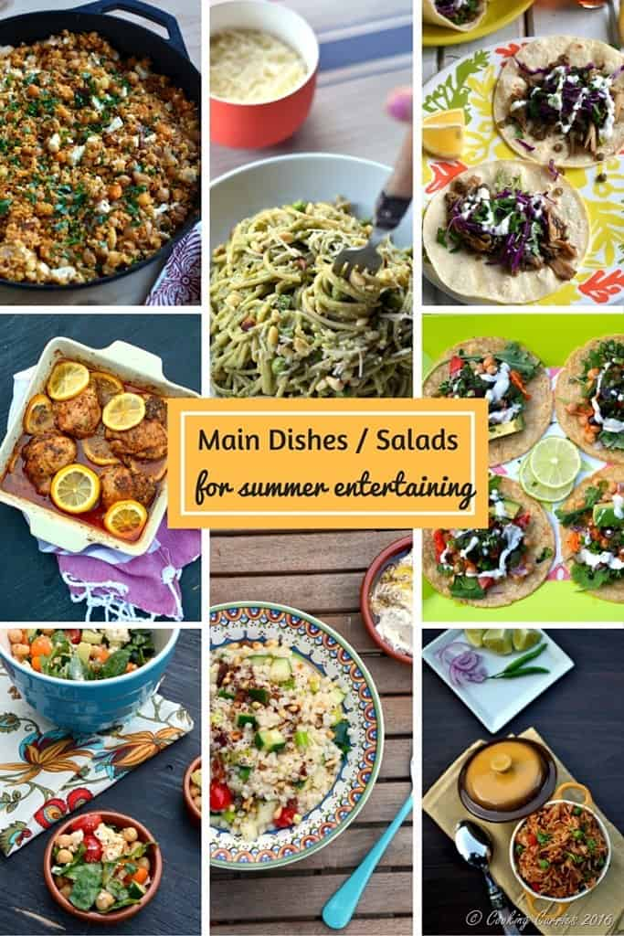 Main Dishes and Salads for Summer Entertaining - Look for the Ultimate Summer Entertaining Guide on www.cookingcurries.com