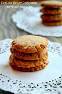 "Eggless Honey Cardamom ""Anytime"" Cookies"
