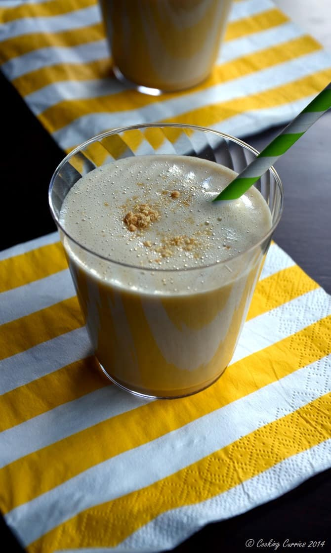 Peanut Butter, Banana and Oat Milk Smoothie - Little People Food By CC - Vegan Vegetarian Gluten Free - www.cookingcurries.com (4)