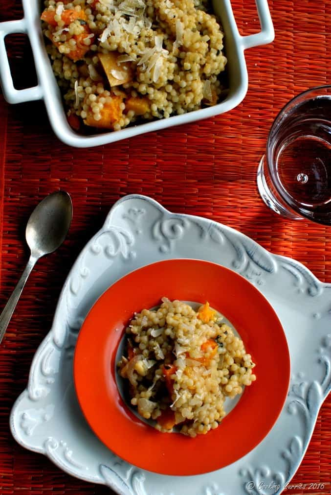 Couscous Risotto withButternut Squash and Carrots - a fall Thanksgiving recipe - vegetarian (4)