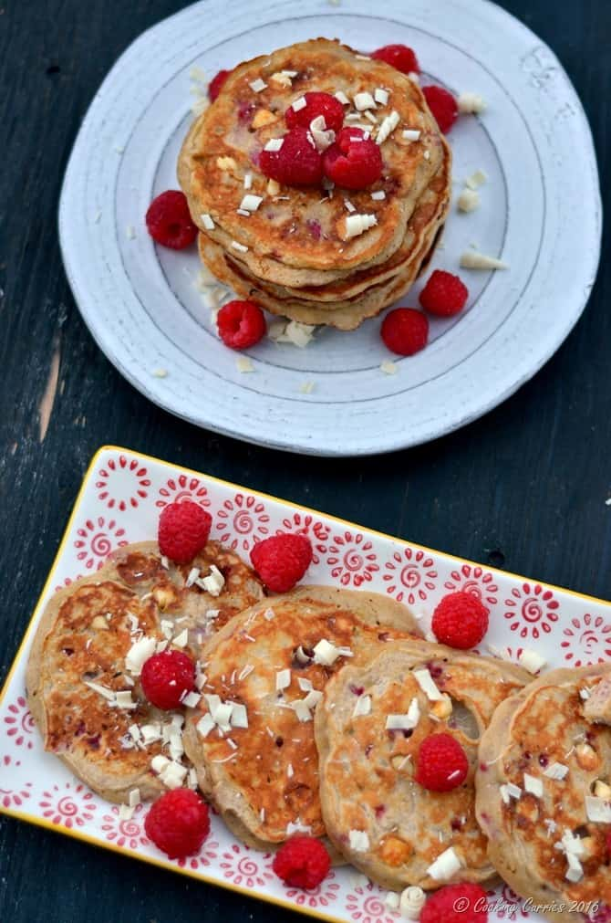 Raspberry White Chocolate Pancakes - FoodieMamas - www.cookingcurries.com (2)