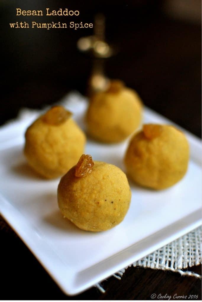 Besan Laddoo with Pumpkin Spice - Diwali Recipes - www.cookingcurries.com (5)