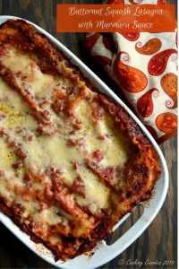 Butternut Squash Lasagna with Marinara Sauce   Thanksgiving Recipe