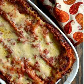 Butternut Squash Lasagna with Marinara Sauce - vegetarian Thanksgiving