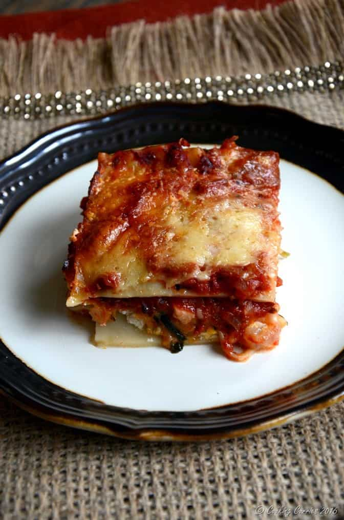Butternut Squash lasagna with Marinara Sauce - Thanksgiving Recipe - Vegetarian (3)