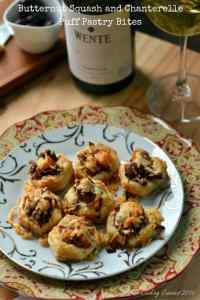 Butternut Squash and Chanterelle Puff Pastry Bites