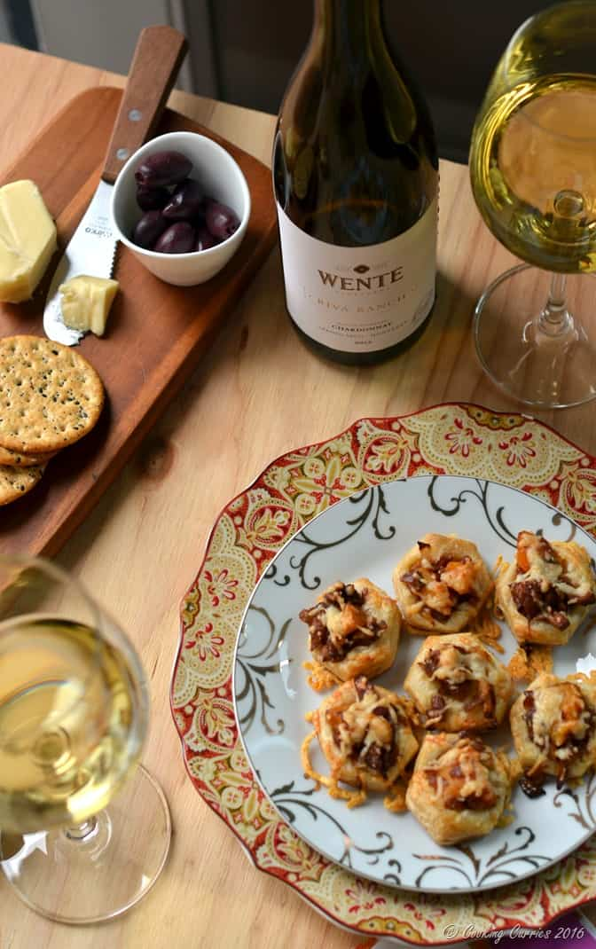 Butternut Squash and Chanterelle Puff Pastry Bites - Holiday Entertaining Food and Wine Pairing with Wente Vineyards Chardonnay (4)