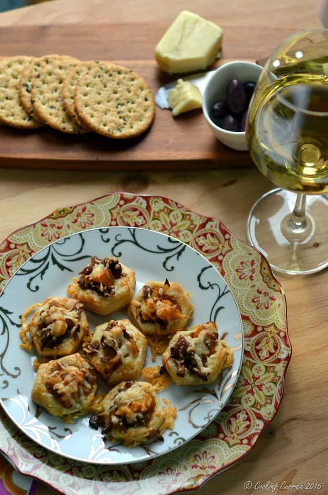 Butternut Squash and Chanterelle Puff Pastry Bites - Holiday Entertaining Food and Wine Pairing with Wente Vineyards Chardonnay (3)