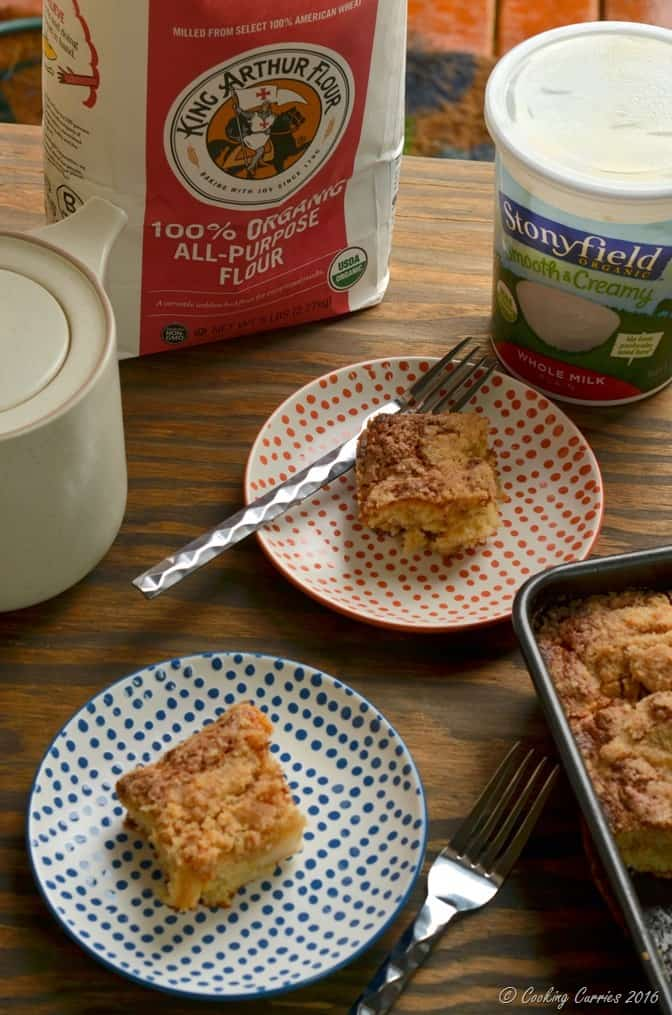 Ginger Pear Streusel Coffee Cake - Stonyfield Organic and King Arthur Flour Organic - Stonyfield Clean Plate Club (2)
