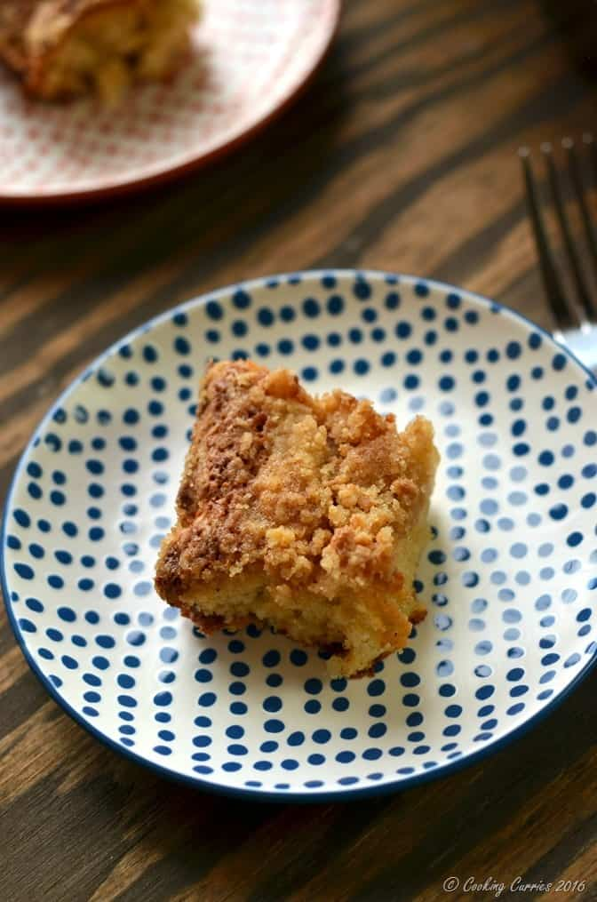 Ginger Pear Streusel Coffee Cake - Stonyfield Organic and King Arthur Flour Organic - Stonyfield Clean Plate Club (4)