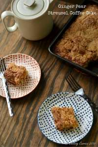 Ginger Pear Streusel Coffee Cake